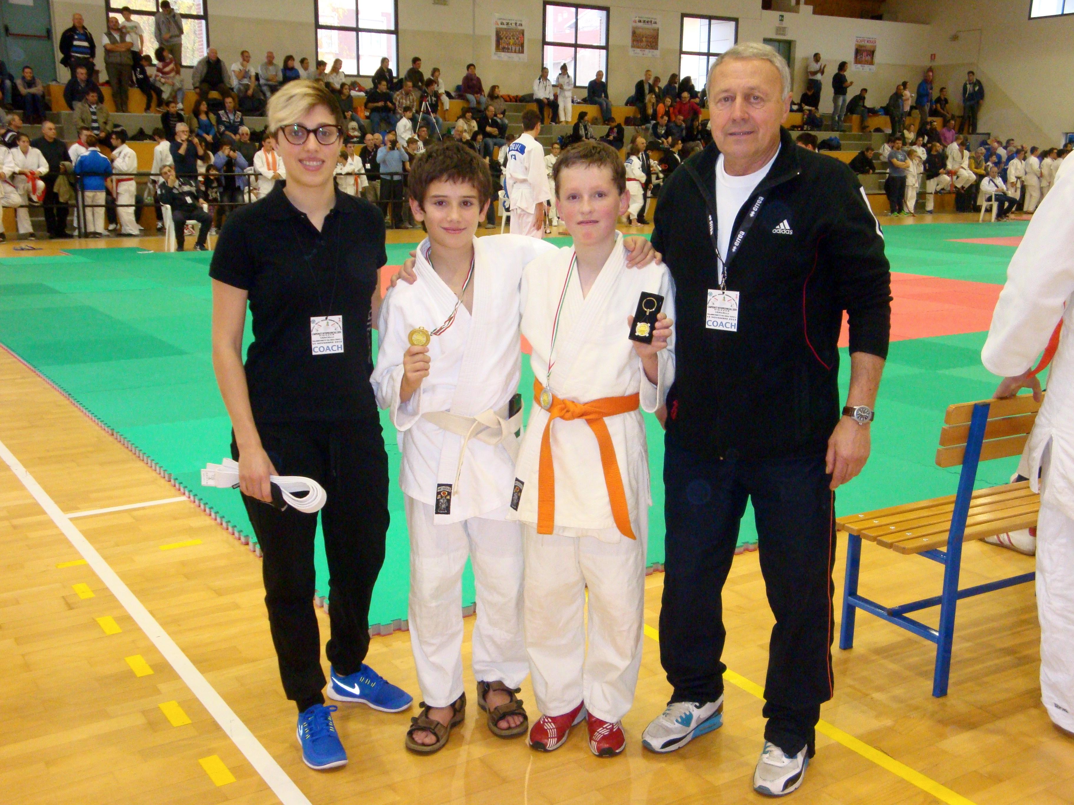 Judoka Spazioforma sul podio a Vercelli